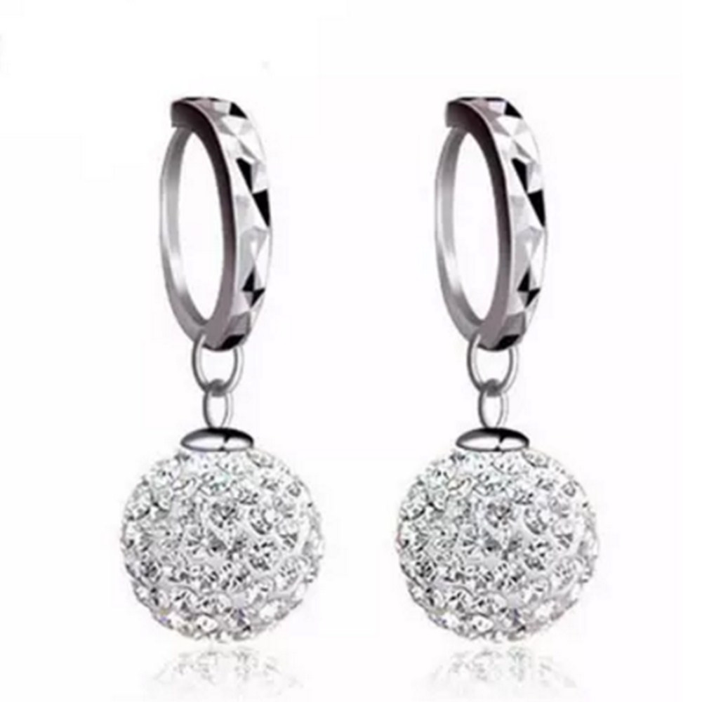 Pani Shambhala luksusowe kryształowe kolczyki w kształcie łezki - Modna biżuteria - Zdjęcie 6