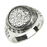 925 Sterling Silver Buddha Ring