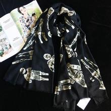 Cashmere Scarf Women Designer 2017 Luxury Brand  Cashmere Scarf Astronaut Scarves Bandanas Headwear 110*200