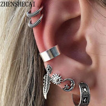 875aa90f6e43 Vintage Punk Clip de oreja Pendientes de botón Pendientes Brinco chicas  Bijoux cadena borla de Clip de oreja manguito aretes par.