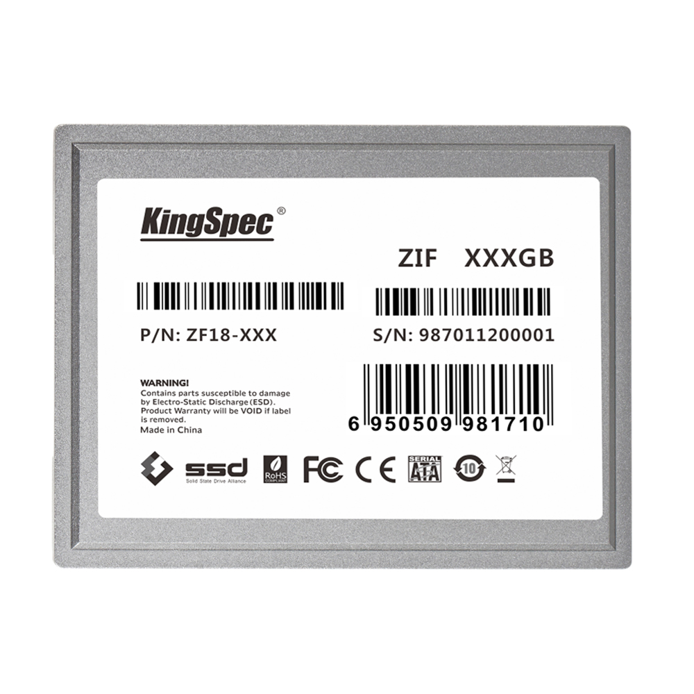 """Prix pour Kingspec 64 gb 128 gb ssd disque dur 1.8 """"zif vitesse carte pour apple macbook air 1.1 mba a1237 2008 livraison gratuite"""
