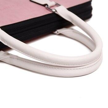 Funda Macbook Pro De 15 Pulgadas | Bolso De Cuero Impermeable De La PU De La Manera Del Bolso Del Ordenador Portátil Del Hombro De Las Mujeres 13 13,3 14 15 15,6 Pulgadas Para Macbook Air Pro Bolso Rosa