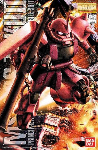 Bandai Gundam MG 1/100 MS 06S Zaku II 2.0โทรศัพท์มือถือชุดประกอบชุดตัวเลขการกระทำของเล่นรุ่น