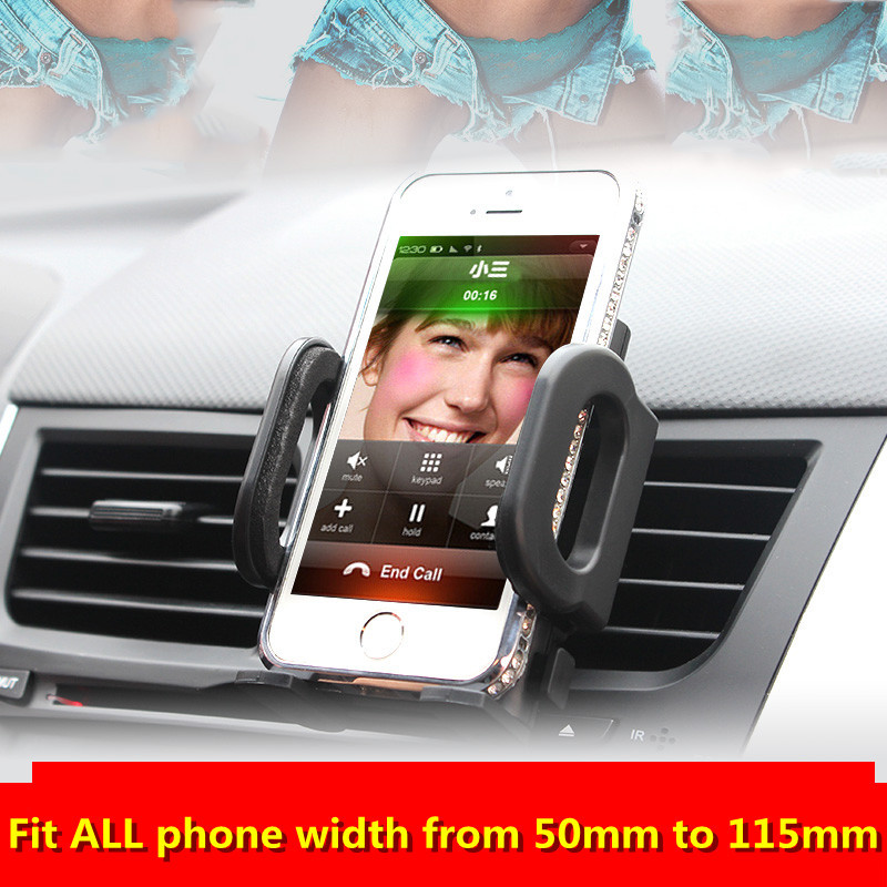 Car Air Conditioning Vent Phone Holder Mount For Apple iPhone 6s 6 Plus 5S 5C Samsung