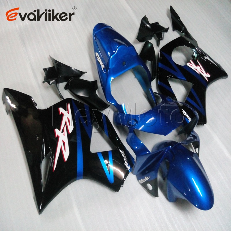 Capot de moto personnalisé pour CBR954RR 2002-2003 carénage de moto en plastique ABS + 5 cadeaux + peint bleu noir