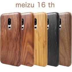 На Алиэкспресс купить чехол для смартфона natural wooden phone case for meizu 16th 16th plus case cover walnut/rosewood/black ice wood shell cover (real wood) 16thplus