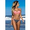 Bikini Set Swimwear Mulheres Push Up Cintura Baixa Maiô Feminino Patchwork Listrado Biquini Maillot De Bain Maiô 2331