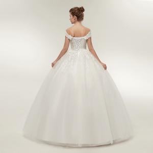 Image 3 - Fansmile vestido de noiva noiva laço do vintage tule bola vestidos de casamento 2020 plus size personalizado vestidos de noiva frete grátis FSM 141F