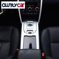 Для Land Rover Discovery спортивный автомобиль Интимные аксессуары ABS Chrome центр Шестерни Цельнокройное Панель крышка отделка 2015 +