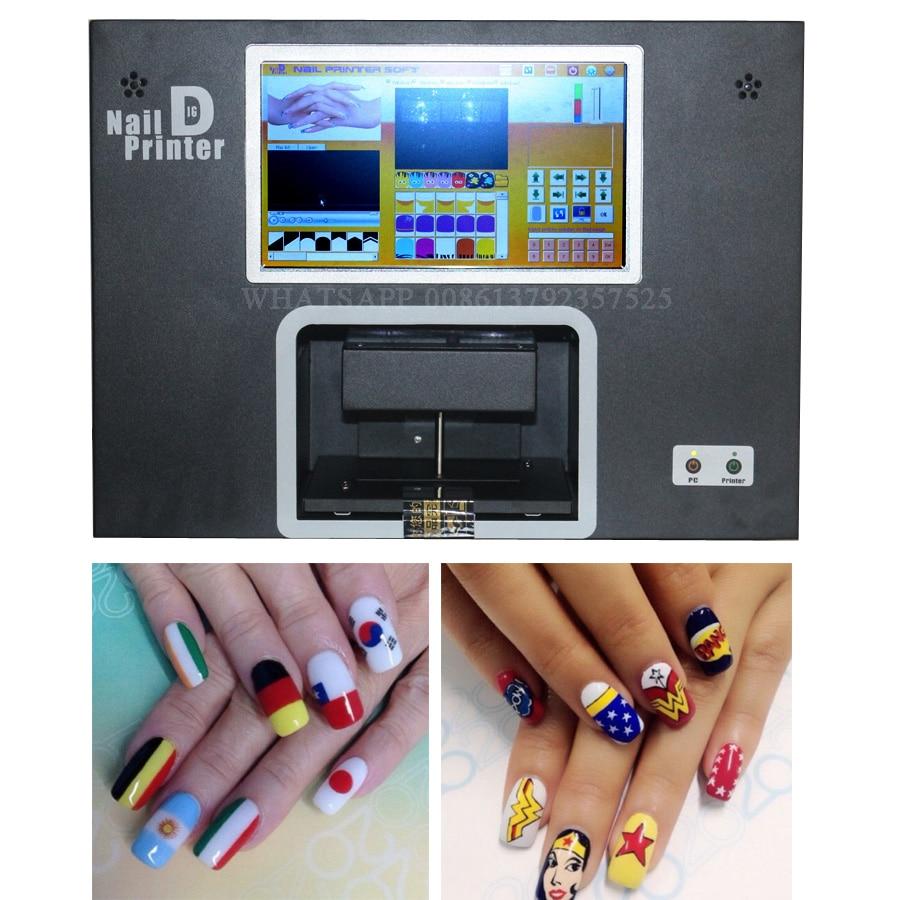 Real 5 hand nails printing screen digital nail printer nail art ...
