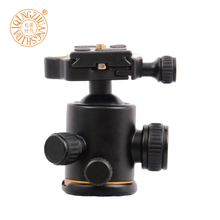 QZSD Q02 Aluminum Camera Tripod Ball Head Ballhead With Quick Release 1/4 Screw Plate For DSLR Camera Tripod qzsd professional aluminium tripod page 4 page 4
