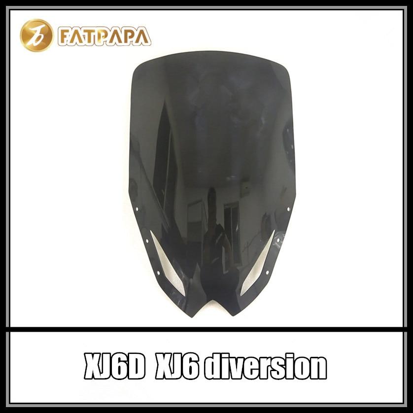 XJ6 D nouveaux accessoires moto pare-brise noir et transparent pour YAMAHA XJ6D XJ6 diversionXJ6 D nouveaux accessoires moto pare-brise noir et transparent pour YAMAHA XJ6D XJ6 diversion
