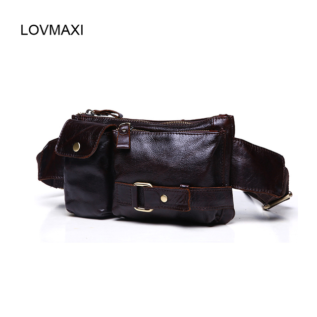 Sale! Men's Vintage leather waist bag,Fashion Korean style chest bags messenger bag Male small bags Casual