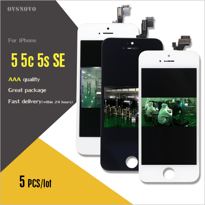 Ovsnovo 5pcs Lot LCD Ecran For Iphone 5 5c 5s SE LCD Display Pantalla With Digitizer