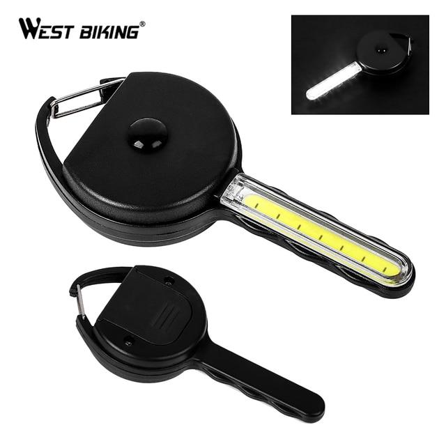 Ouest vélo Mini lampe de poche LED porte-clés Sport de plein air Camping randonnée nuit durgence outil lampe clé forme porte-clés anneau lumière