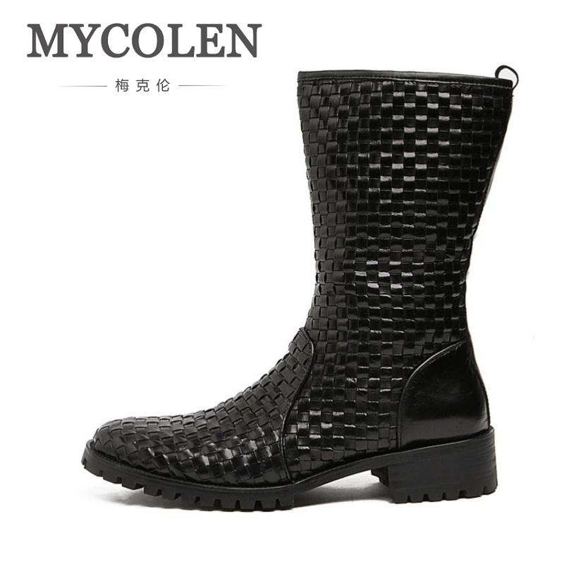 MYCOLEN Genuine Leather Tactical Military Boots Mens Outdoor Riding Boots Shoes Real Leather Ankle Boots Coturnos Masculino shiny slim black gold red flats shoes mens casual shoes genuine leather mens outdoor shoes ankle boots