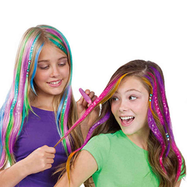 US $18.5 45% OFF|12Pcs Fashion Hair Chalk Temporary Bright Hair Coloring  Chalk for Kids Hair Dyeing Party and Cosplay Funny toys for Children-in  Gags ...