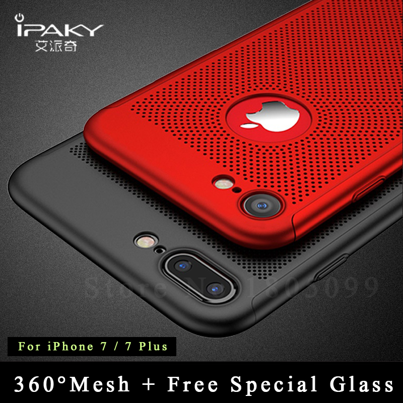 iPaky 360 Full Coque For iphone 7 case 6 6s plus cover For iPhone 7 plus case 6 6s Silm PC Cover For iphone7 7 6 6s plus cases