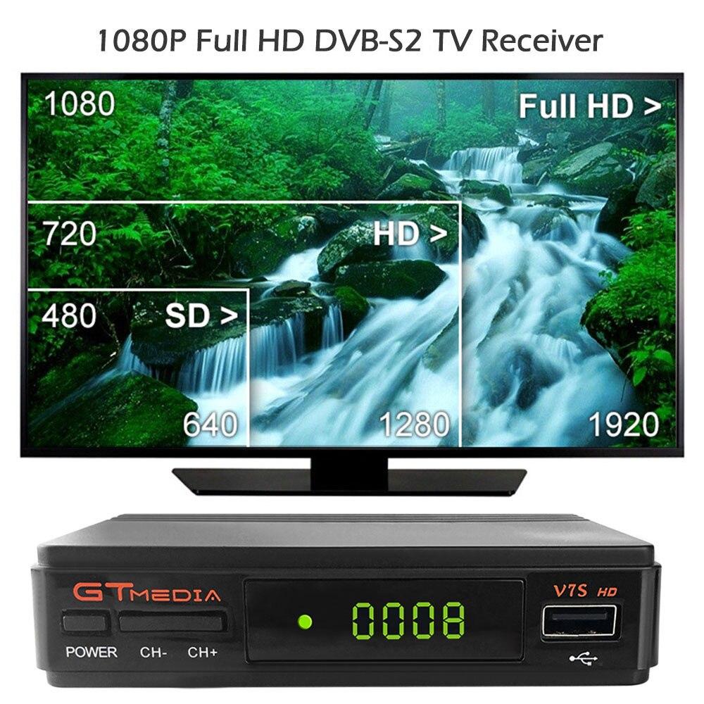 1 Year Europe 7 Clines Server GTMedia V7S HD Digital Satellite Receiver DVB-S2 V7S HD Full 1080P+USB WIFI Upgrade Freesat V7 1