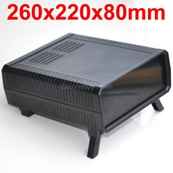 HQ instrumentación ABS proyecto caja, negro, 260x220x80mm.