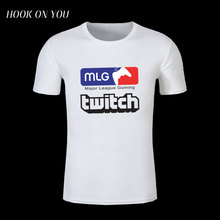 2017 Summer New Arrival T Shirt America MLG Major League Gaming Twitch Printed T-Shirt O-Neck Clothes Cool Game Team Tops Tees