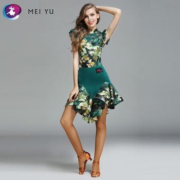 MEI YU MY771 and MY772 Latin Dance Costume Top Leotard and Skirt Suits Women Lady Adult Ballroom Costume Evening Party Dress