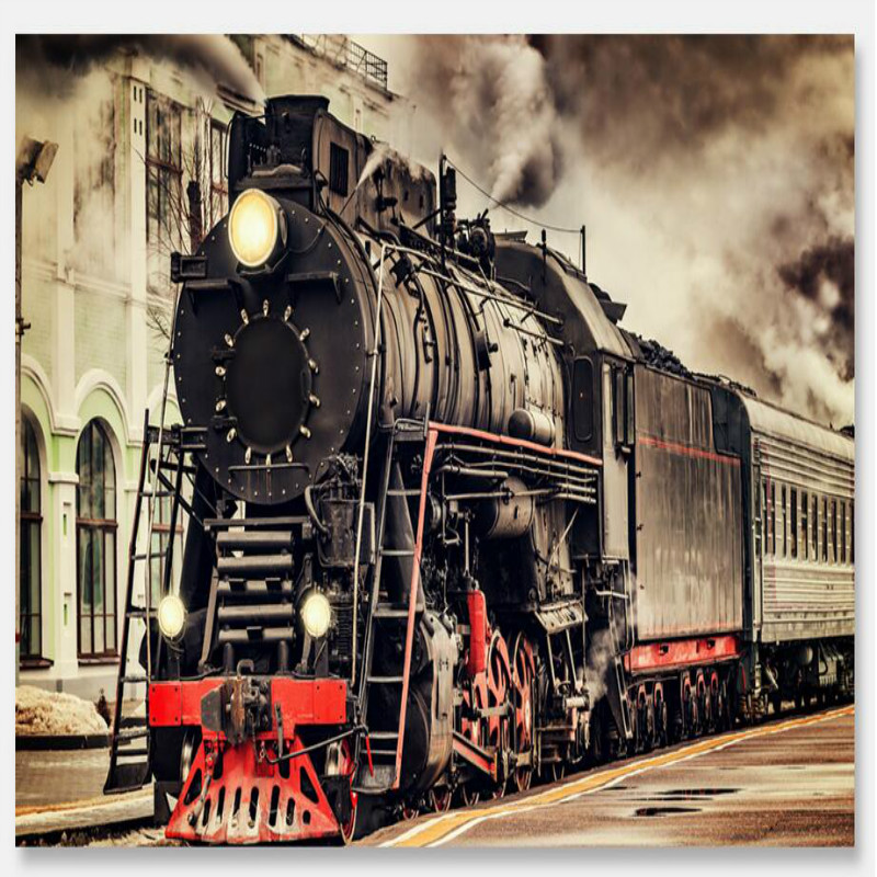 Retro nostalgic train 3D Wallpaper for Walls 3d Wall Paper Painting Mural Wallpapers Home Improvement Decorate Wallpapers damask wallpaper for walls 3d wall paper mural wallpapers silk for living room bedroom home improvement decorative