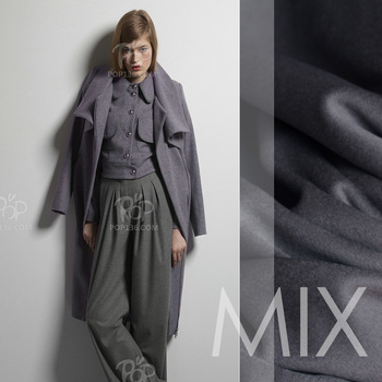 LEO&LIN MIX water ripples cashmere  dark gray in thick cashmere 1.5 meters width  cloth fabric patchwork (1 meter)
