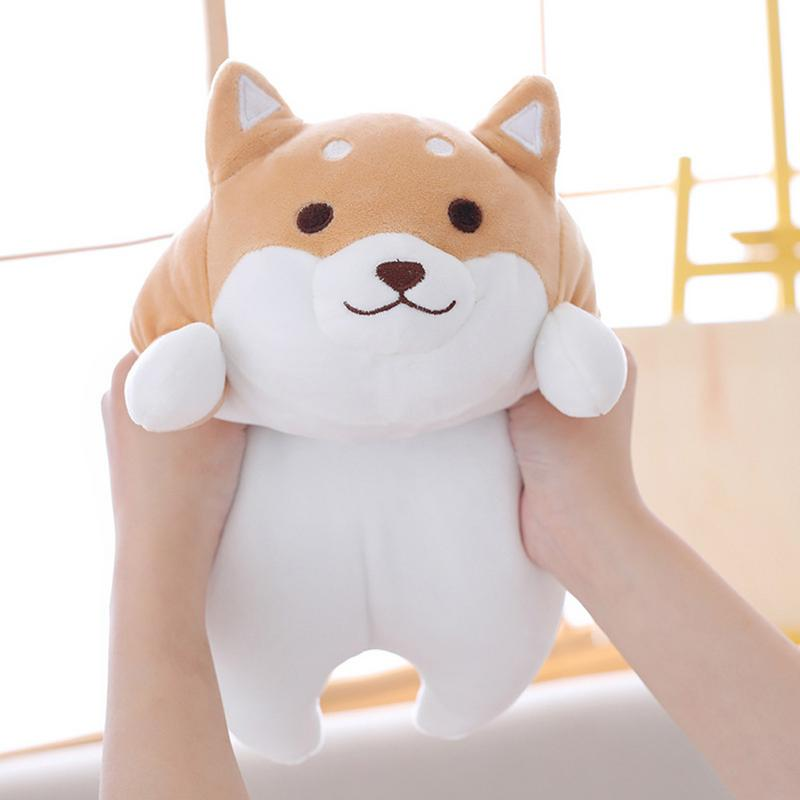 MINOCOOL Baby And Adult Chubby Corgi PP Cotton Plush Doll Toy Soft Elastic Home Pillow Fat Fart Doll Short Plush Pillow Cusion