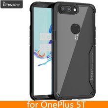 for Oneplus 5T Case Original IPAKY for one plus 5T Silicone Acrylic Hybrid Shockproof Transparent Case for OnePlus 5T Case(China)