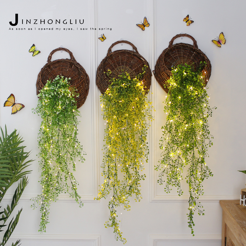 Online Shop N wall decoration artificial flowers vine with flower ...