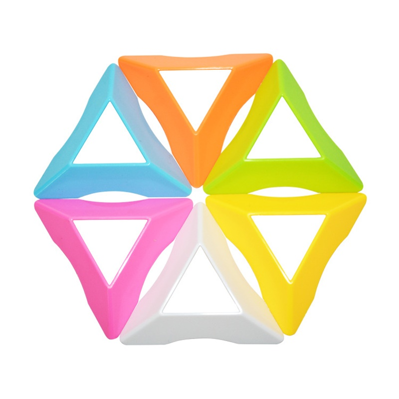 2pcs Hot Selling Magic Cube Colorful Stand 7.5cm Funny Triangle Universal Base Holder Frame Stand Tower Accessories Magic Cubes