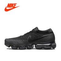 Аутентичные Nike Air VaporMax Flyknit кроссовки Для мужчин дышащие спортивные сетки кроссовки оригинальный классические туфли удобные