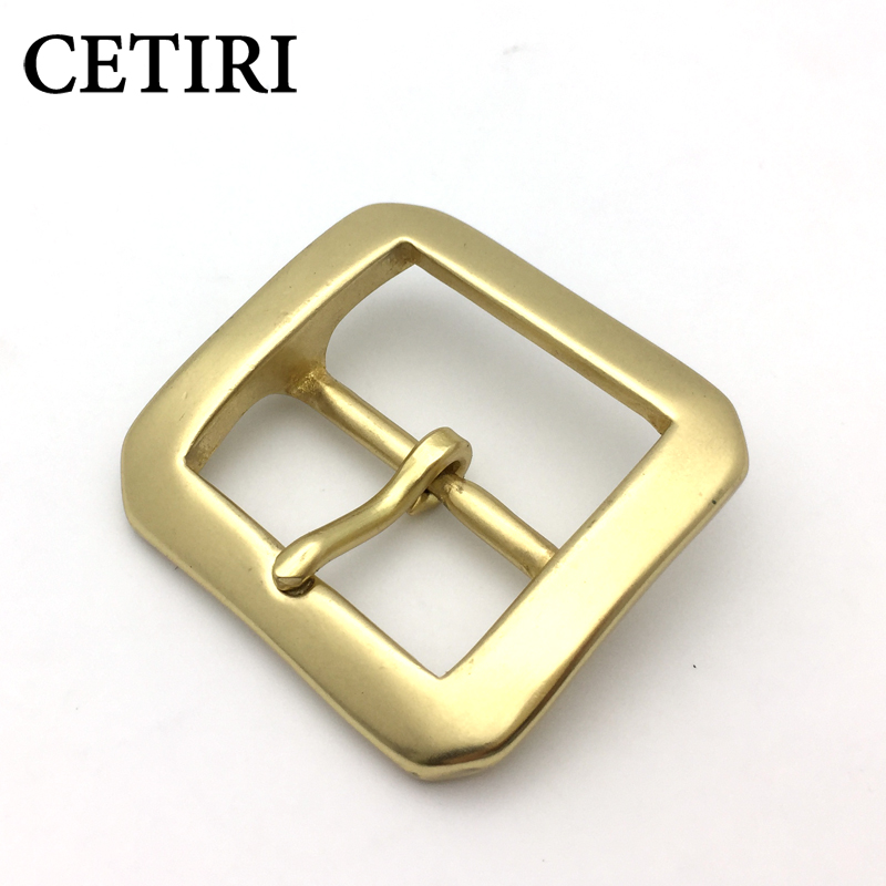 CETIRI High Quality Solid Brass Pin Buckle Fashion Men's Belt Buckles Fit 4cm 1.57in Wide Belt Classic Mens Jeans Accessories