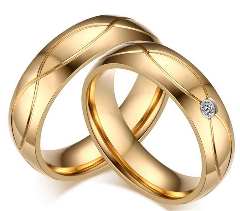High Quality Couple Rings For Women Men Cubic Zirconia