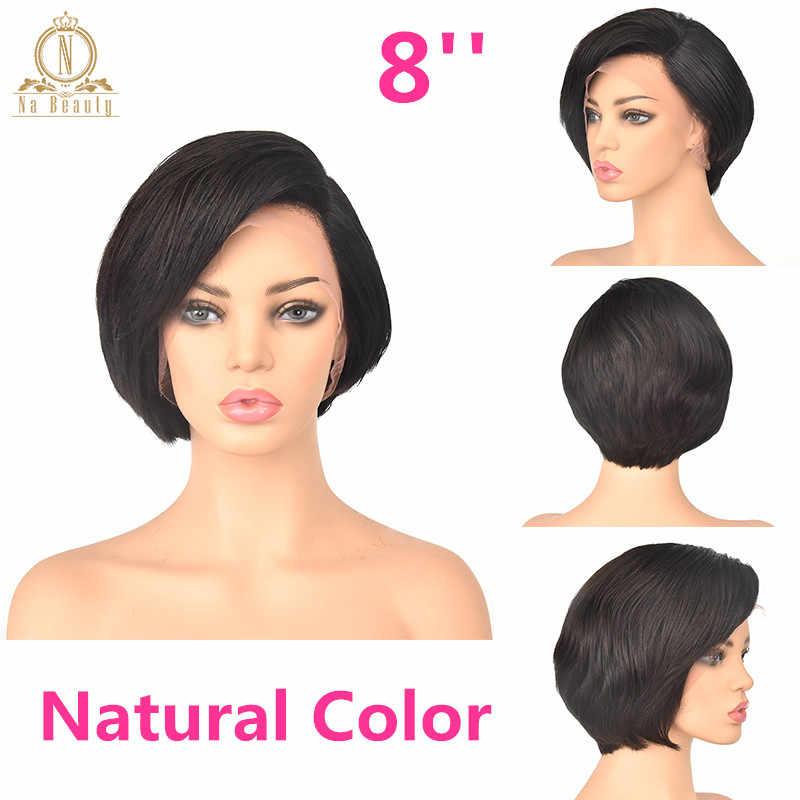 13x6 Deep Part Lace Front Human Hair Short