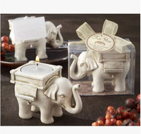 3D Lucky Elephant Candlestick Mold Moulds Rubber Silicone PRZY Eco-friendly 001 FDA EEC LFGB CIQ CE / EU SGS
