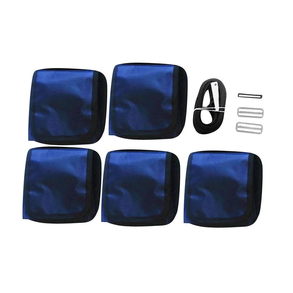 Heavy Duty Scuba Diving Pocket Pouch Weight Belts - Belt 4.9ft X 2'' Pocket 6.3'' X 6.3''