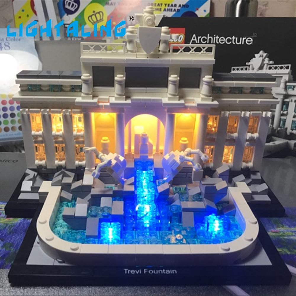 LED Light Kit for Trevi Fountain Compatible with Lego 21020 s