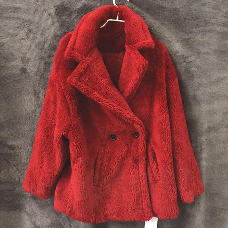 En Agneau Chaud Femmes Rouge Pardessus De rose Faux Mouton champagne Russe Hiver Fourrure Peau A072 Manteaux marron Femelle Européenne Designer Épais Streetwear vxnw0q5BUO