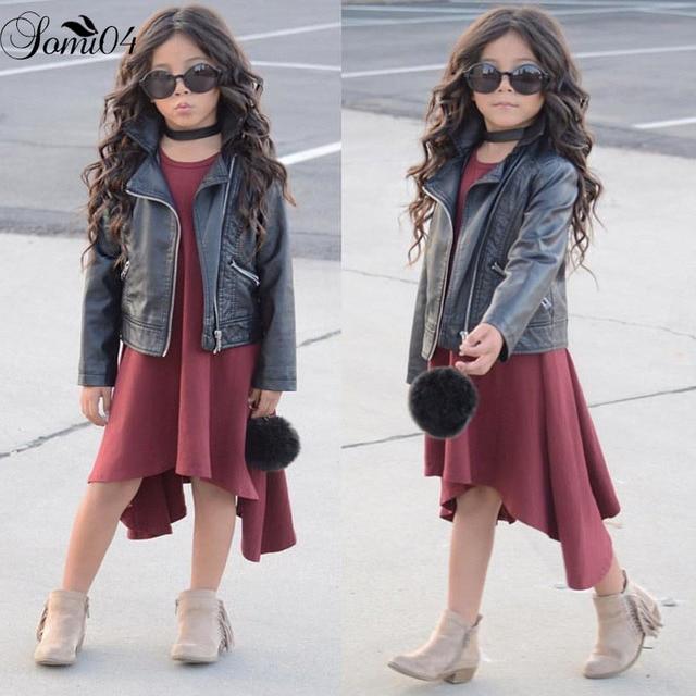 7247907be843 Children Girl Sleeveless Modal Vest Dress Cool Summer Clothes 2018 Baby  Kids Solid Fashion Irregular Dresses