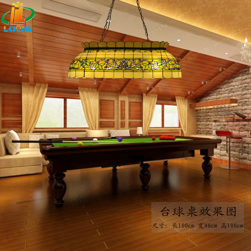 Aliexpress.com : Buy European Style Retro Glass Rattan Man Large Chandelier  Tiffany Restaurant Billiards Table Snooker Lights American Bar Lighting  From ...