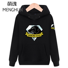 METAL GEAR Solid 5 diamond dogs hoodies TV game concept men's hoodies gift for MGS FANS MGS costume ac686 supra mgs 2050
