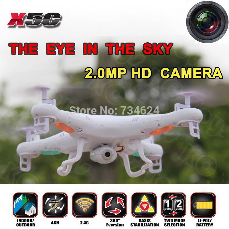 Envío gratis syma x5c x5c-12.4g quadrocopter 2.4g 6 axis gyro HD Cámara RC Quadc