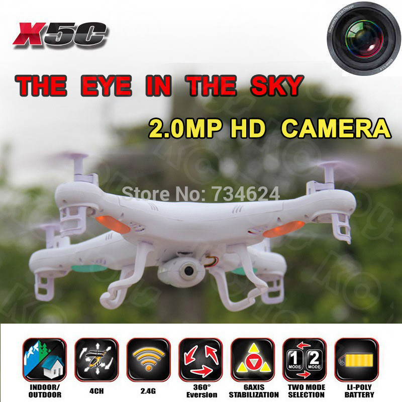 Free shipping Syma X5C x5c 1 Quadrocopter 2 4G 6 Axis GYRO HD Camera RC Quadcopter