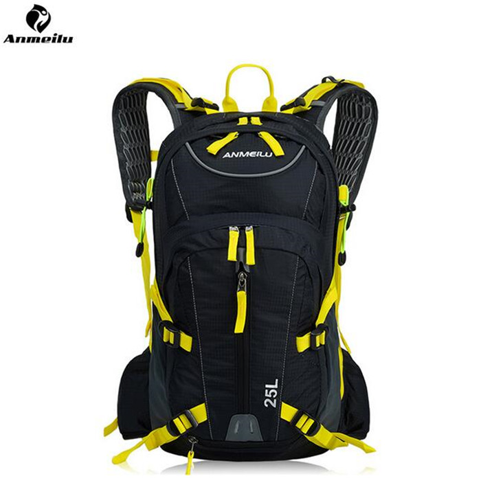 ANMEILU 25L Waterproof Sports Bag Outdoor Camping Hiking Climbing Bag Travel Cycling Backpack Hydration With Rain Cover anmeilu 20l rucksack 2l water bag waterproof hiking camping climbing cycling travel backpack outdoor bag hydration pack