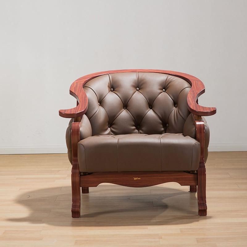 US $768.85 |Minimalist modern antique High quality environmental simulation  leather single sofa living room furniture elegant sofas-in Living Room ...