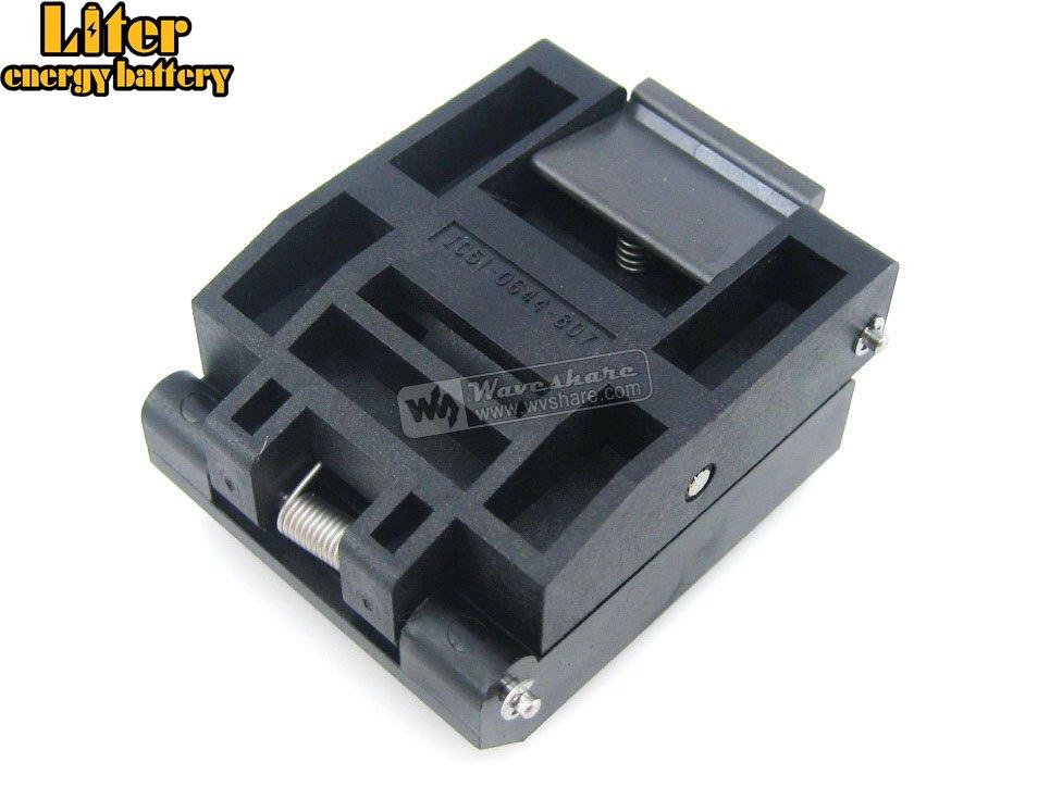 QFP64 TQFP64 FQFP64 PQFP64 IC51-0644-807 Yamaichi QFP IC Test Burn-in Socket Programming Adapter 0.5mm Pitch