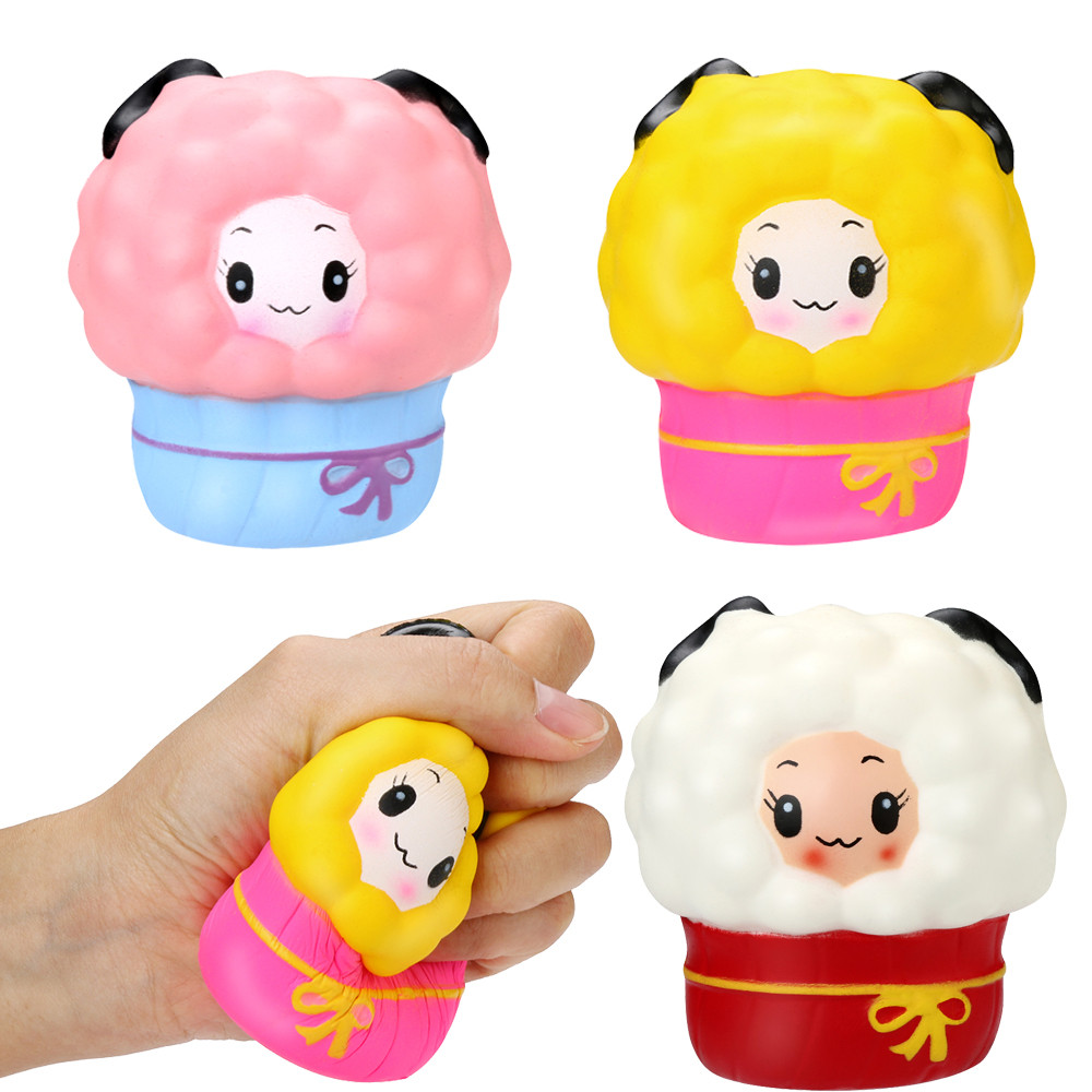 Toys & Hobbies Relax Toys Cute Squishy Squishies Soft Scented Cartoon Moon Sheep Stress Reliever Soft Yogurt Scented Slow Rising Toys D300226 Stress Relief Toy