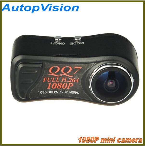 2PCS portable Mini camera QQ7 FULL HD H.264 MOV 1080P Mini Camcorder, 720P 60fps Thumb DV DC with 185 degree wide angle x360 action camera wifi full hd 1080p 360 camera h 264 2 0 screen waterproof kamera wide angle mini dv dvr video camcorder